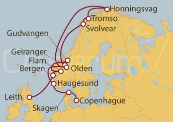Crucero Leith (Escocia), Noruega, Dinamarca