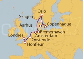 Crucero De Copenhague (Dinamarca) a Londres (Inglaterra)