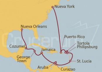 Crucero Nueva York (EEUU), Puerto Rico, Antillas, Aruba, México