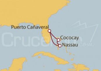 Crucero Minicrucero: Puerto Cañaveral y Nassau, Cococay (Bahamas)