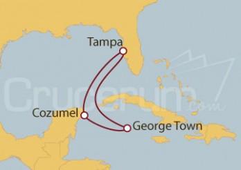 Crucero EEUU, Islas Caimán, México