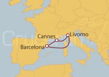 Crucero Minicrucero 5 días: Barcelona, Cannes y Florencia
