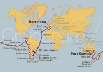 Crucero Tramo de Vuelta al Mundo 2020 - De Barcelona a Port Kembla