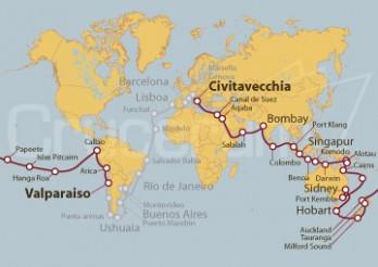 Crucero Tramo de Vuelta al Mundo 2020 - De Valparaiso a Civitavecchia