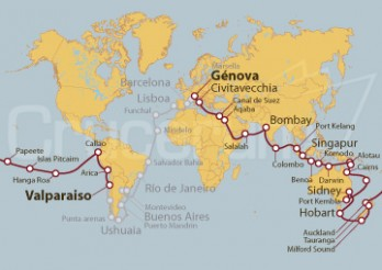 Crucero Tramo de Vuelta al Mundo 2020 - De Valparaiso a Génova