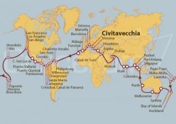 Crucero Vuelta al Mundo 2019 partiendo desde Civitavecchia (Roma)
