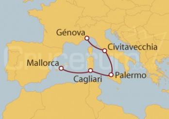 Crucero Italia, España