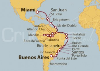 Crucero De Miami (EEUU) a Buenos Aires (Argentina)