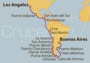 Crucero Desde Buenos Aires (Argentina) a Los Ángeles (EEUU)
