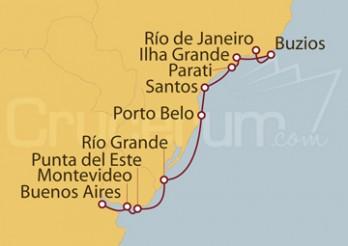 Crucero Buenos Aires (Argentina), Montevideo, Punta del Este (Uruguay) y Brasil