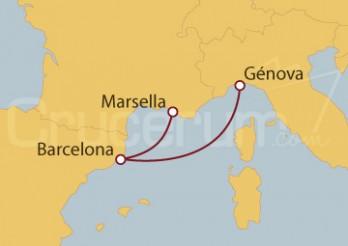 Crucero Minicrucero: Marsella (Francia), Barcelona y Génova