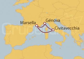 Crucero Minicrucero: Civitavecchia (Roma), Marsella y Génova