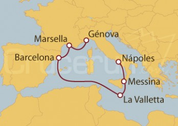 Crucero De Nápoles  a Génova