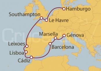 Crucero Mediterráneo y Atlántico desde Hamburgo