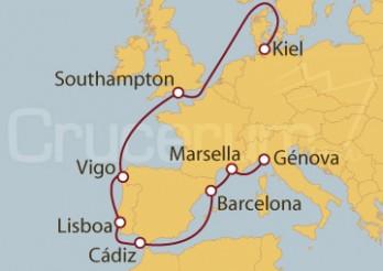 Crucero De Génova (Italia) a Kiel (Alemania)