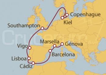Crucero De Génova a Copenhague (Dinamarca)