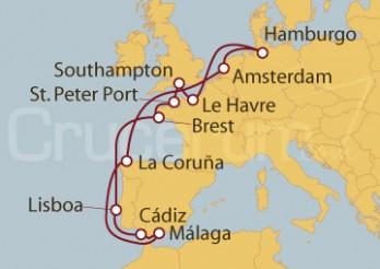 Crucero Alemania, Francia, Reino Unido, Portugal, España, Holanda