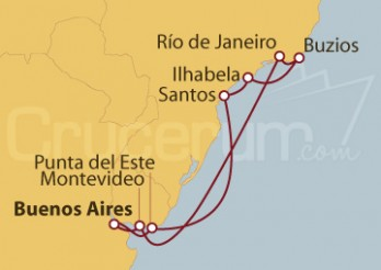 Crucero Argentina, Uruguay y Brasil