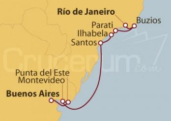 Crucero De Buenos Aires (Argentina) a Río de Janeiro (Brasil)