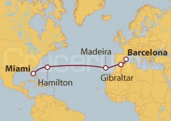Crucero De Barcelona a Miami (EE UU)