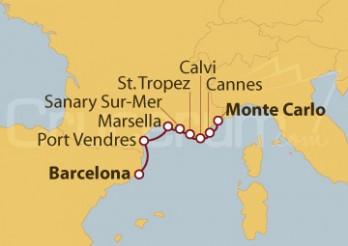 Crucero De Barcelona a Monte Carlo (Mónaco)
