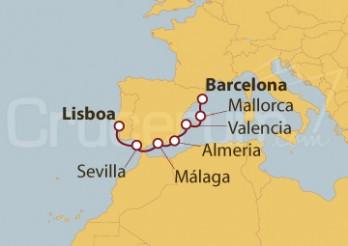 Crucero De Lisboa a Barcelona