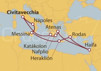 Crucero Civitavecchia (Roma), Grecia, Israel, Sicilia