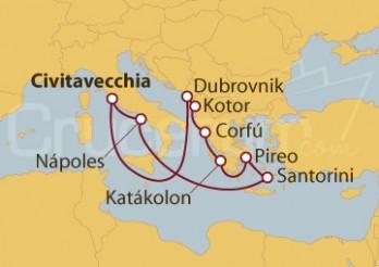 Crucero Civitavecchia (Roma), Croacia, Montenegro, Grecia