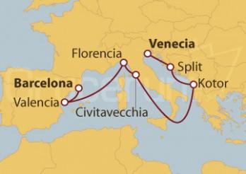 Crucero Mediterráneo y Adriático