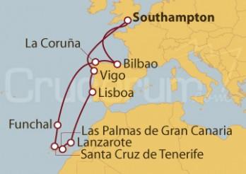 Crucero Islas Canarias desde Southampton (UK)