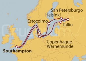 Crucero Capitales Bálticas desde Southampton (UK)