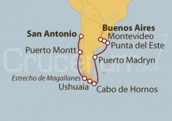 Crucero Sudamérica: Fiordos desde Buenos Aires