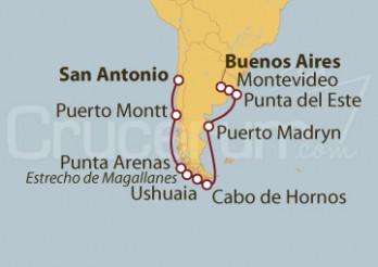 Crucero Sudamérica: De San Antonio (Chile) a Buenos Aires (Argentina)