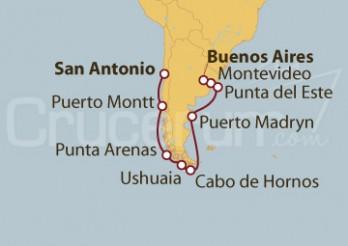 Crucero Sudamérica: De Buenos Aires (Argentina) a San Antonio (Chile)