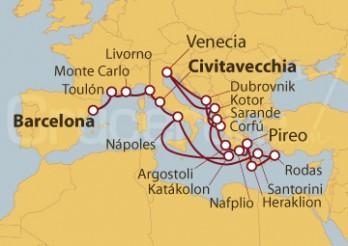 Crucero Romance Griego y Mediterráneo