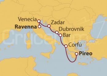 Crucero Venecia, Croacia y Atenas
