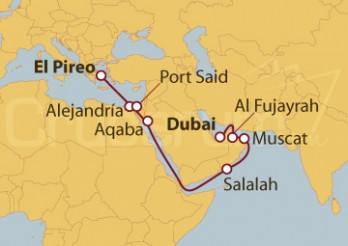 Crucero Del Pireo (Atenas) a Dubai (EAU)