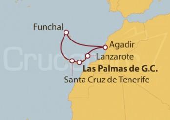 Crucero Islas Canarias, Portugal y Marruecos
