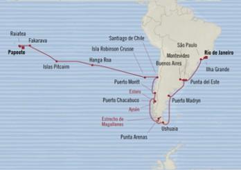 Crucero De la Samba al Pacífico Sur