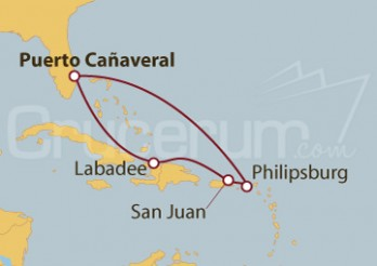 Crucero Puerto Cañaveral (Florida), St.Marteen, Puerto Rico, Haití