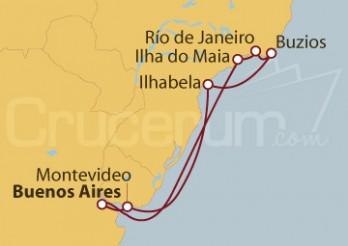 Crucero Argentina, Brasil y Uruguay