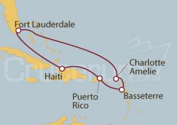 Crucero Fort Lauderdale (EE UU), Charlotte Amalie , Basseterre, San Juan y Labadee