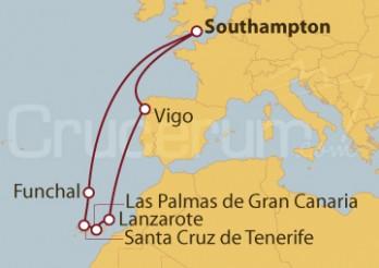 Crucero Southampton (UK), Madeira, Islas Canarias y Vigo