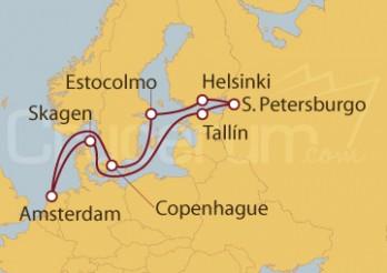 Crucero Holanda, Dinamarca, Estonia, Rusia, Finlandia y Suecia