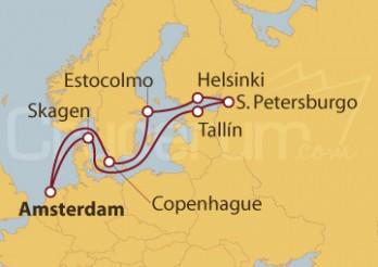 Crucero Holanda, Dinamarca, Rusia, Finlandia y Suecia