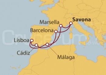Crucero Italia, Francia, España, Portugal