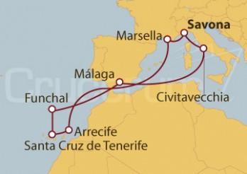 Crucero Italia, Francia, Islas Canarias, Madeira y España