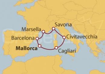 Crucero Islas Baleares, Italia, Francia, España