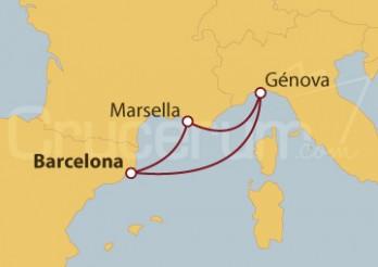 Crucero Minicrucero por España, Italia y Francia