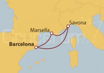 Crucero Minicrucero por España, Francia e Italia